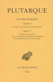 Oeuvres morales t.15-1 ; traités 70 -71 - Couverture - Format classique
