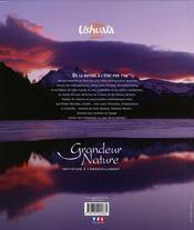 Ushuaïa grandeur nature ; invitation à l'émerveillement - 4ème de couverture - Format classique