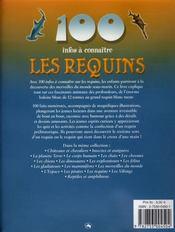 100 Infos A Connaitre ; Les Requins - 4ème de couverture - Format classique