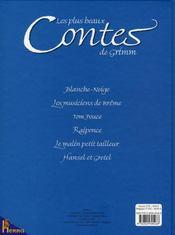 Les plus beaux contes de Grimm - 4ème de couverture - Format classique