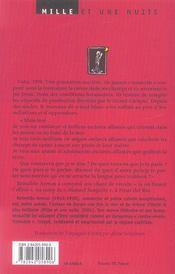 La Plantation - 4ème de couverture - Format classique