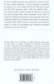 Gens De La Vallee (Les) - 4ème de couverture - Format classique