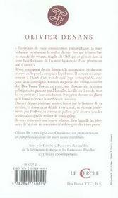 Onanisme - 4ème de couverture - Format classique