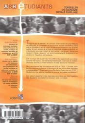 Conseiller En Economie Sociale Et Familiale - 4ème de couverture - Format classique