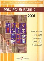Prix Pour Batir T.2 2001 - Intérieur - Format classique