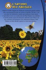 L'automne des abeilles ; sauvez les animaux avec Paul Nature t.3 - 4ème de couverture - Format classique