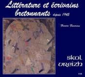 Litterature Ecrivains Bretonnants Sv T.20 - Couverture - Format classique