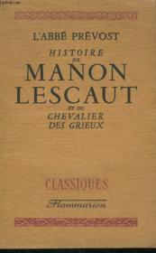 Histoire De Manon Lescaut Et Du Chevalier Des Grieux. - Couverture - Format classique