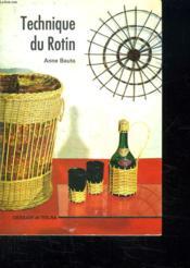 Technique Du Rotin - Couverture - Format classique
