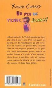 Un peu de tenue, jenny ! - 4ème de couverture - Format classique