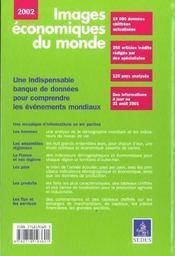Images Economiques Du Monde ; Edition 2002 - 4ème de couverture - Format classique
