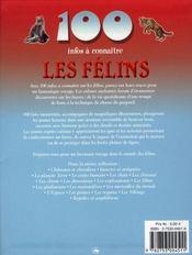 100 Infos A Connaitre ; Les Félins - 4ème de couverture - Format classique