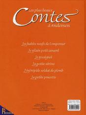 Les plus beaux contes d'Andersen - 4ème de couverture - Format classique