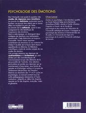 Psychologie Des Emotions Confrontation Et Evitement - 4ème de couverture - Format classique
