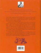 Le Bel Appetit De Monsieur De Balzac - 4ème de couverture - Format classique