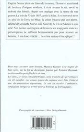Croix Du Meze (La) - 4ème de couverture - Format classique