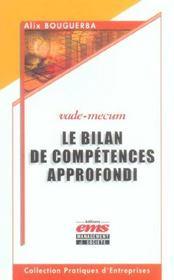 Le bilan de competence approfondie - Intérieur - Format classique