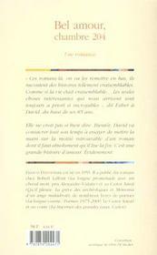 Bel amour chambre 204 - 4ème de couverture - Format classique