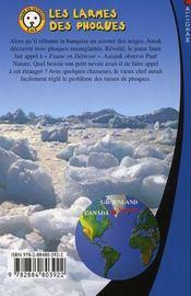 Les larmes des phoques ; sauvez les animaux avec Paul Nature t.2 - 4ème de couverture - Format classique