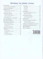 Competence Micro ; Windows Xp En Pleine Forme - 4ème de couverture - Format classique