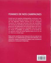 Femmes de nos campagnes - 4ème de couverture - Format classique