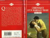 Chronique D'Un Mariage Trahi - Betrayal - Couverture - Format classique