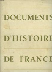Documents D'Histoire De France. - Couverture - Format classique