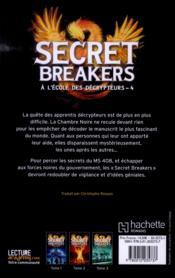 Secret breakers, à l'école des décrypteurs t.4 ; la tour des vents - 4ème de couverture - Format classique