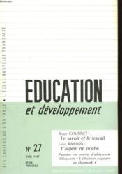 Education Et Developpement - N°27 - Couverture - Format classique