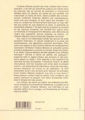 L'histoire litteraire a l'aube du xxie siecle : controverses et consensus - actes du colloque de str - 4ème de couverture - Format classique