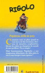Rigolo T.1 ; Papelucho Drole De Zozo - 4ème de couverture - Format classique