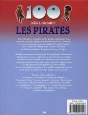 100 Infos A Connaitre ; Les Pirates - 4ème de couverture - Format classique