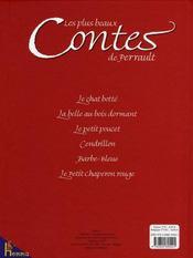 Les plus beaux contes de Perrault - 4ème de couverture - Format classique