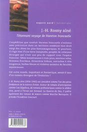 Etonnant Voyage De Hareton Ironcastle (L - 4ème de couverture - Format classique