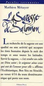 La Sagesse De Salomon - Intérieur - Format classique