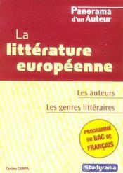 La litterature europeenne - Intérieur - Format classique