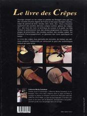 Le livre des crêpes - 4ème de couverture - Format classique