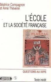 L'ecole et la societe francaise - Couverture - Format classique