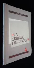 Critique Historique - Couverture - Format classique