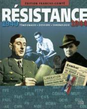 Franche-Comte:Resistance 1940 - Couverture - Format classique