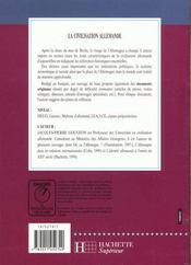 La civilisation allemande - 4ème de couverture - Format classique