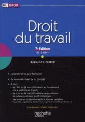 Hu Droit ; Droit Du Travail (7e Edition) - Couverture - Format classique
