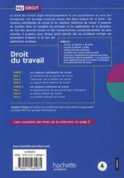 Hu Droit ; Droit Du Travail (7e Edition) - 4ème de couverture - Format classique