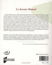 Dernier bunuel - 4ème de couverture - Format classique