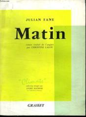 Matin. - Couverture - Format classique