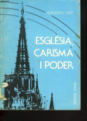 Esglesia, Carisma Y Poder - Couverture - Format classique