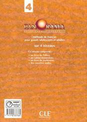 Panorama 4 eleve de francais - 4ème de couverture - Format classique