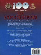 100 Infos A Connaitre ; Les Explorateurs - 4ème de couverture - Format classique