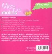 Cuisine, Mes Trucs Malins - 4ème de couverture - Format classique