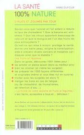 Sante 100 % Nature (La) - 4ème de couverture - Format classique